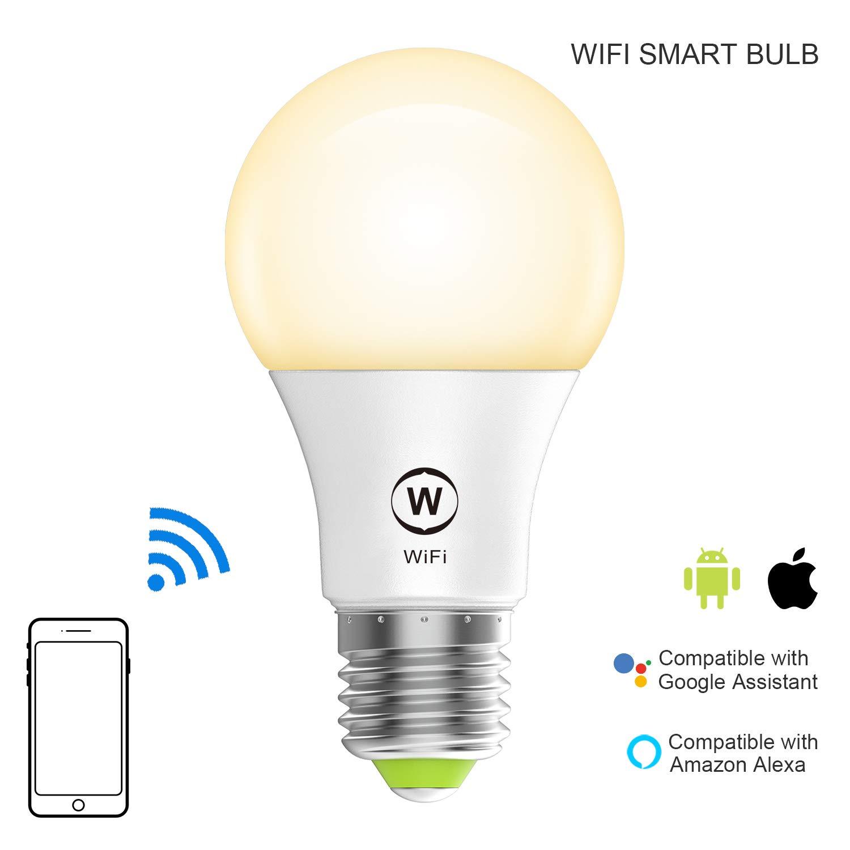 Wifi Light Bulb >> Magic Hue Wifi Light Bulb Soft White 2700k Smart Sunrise Wake Up