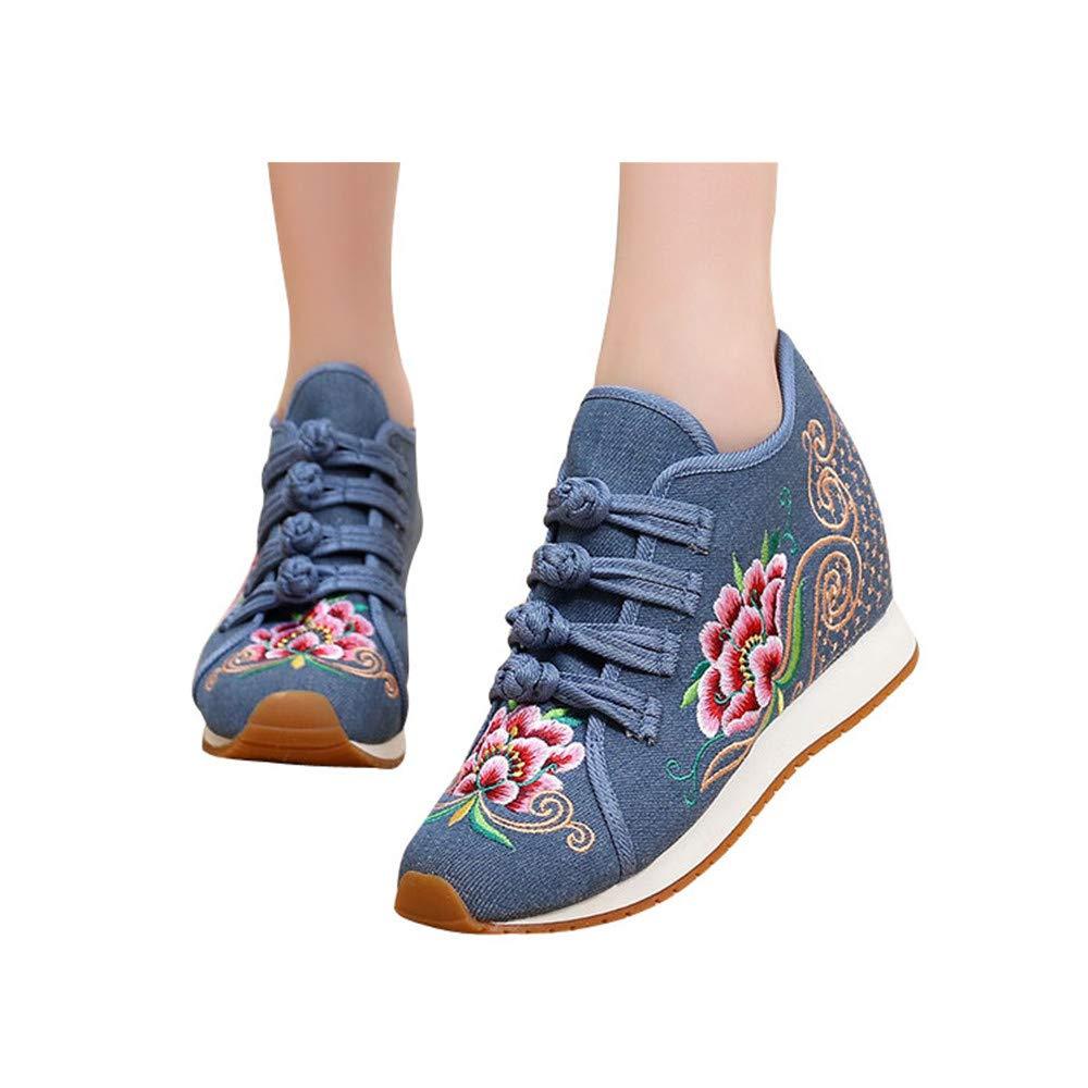 Chaussures Chaussures de Chinois Broderie de Fleurs de Style Chinois Bleu Bleu cfa5edc - boatplans.space