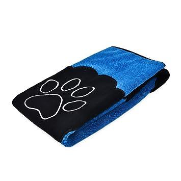 XHD-Ropa para mascotas Toalla de baño seca del perro de la microfibra con el