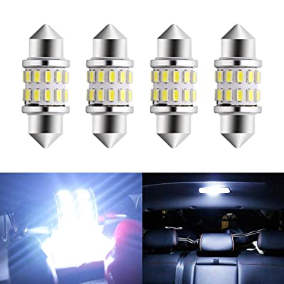 EverBrightt 4-Pack Cool White 31MM 3014 24SMD LED Festoon Light Lamp For Map Light Dome Light Trunk Light Plate Light: Automotive