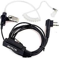 Retevis 2 Pin PTT Covert Acoustic Tube Earpiece MIC for Motorola Walkie Talkies Devices GP88 300 CP200 CT150 P040 PRO1150 SP10 XTN500(1 Pack)