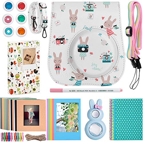 Katia Instant Camera Accessories Bundle Compatible for Fujifilm Instax Mini 9 / Mini 8 Instant Film Camera. Including Camera Case, Album, Frame, Stickers, Strap, Filters, Selfie Len, Pen from Katia