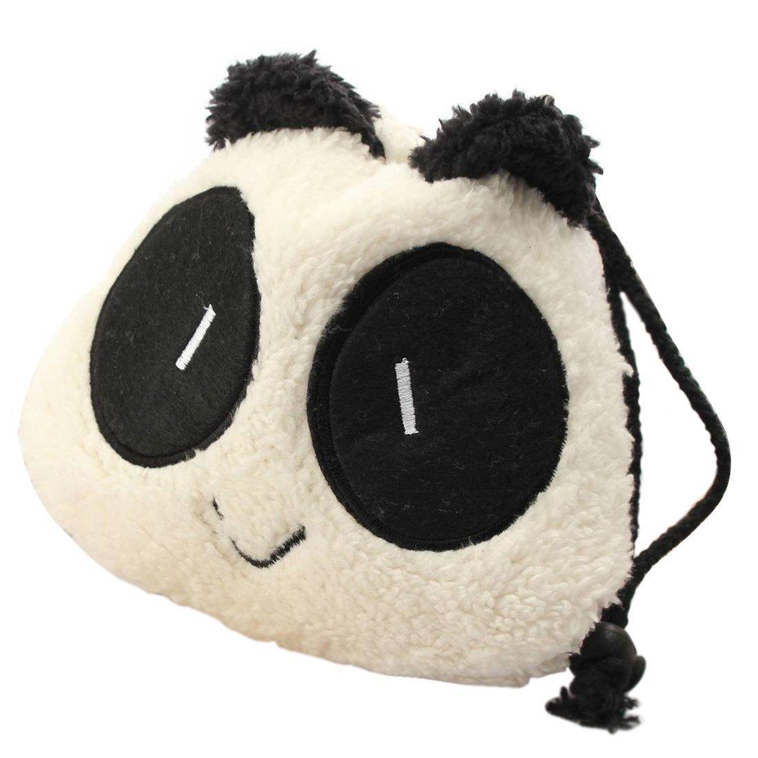 sac - SODIAL(R)Trousse Sac a Main Panda Mousse Peluche Porte-monnaie Portefeuille Pochette Panda Noir et blanc TRTA11A