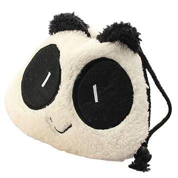 Saco - SODIAL (R) neceser bolsa a mano Panda espuma peluche ...