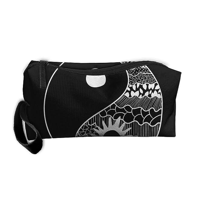 Amazon.com: Bolsa de cosméticos bolsa de aseo de Yin-Yang ...