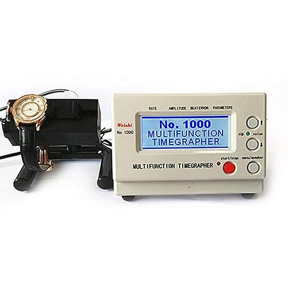 Multifuncional Reloj mecánico probador Timegrapher Reloj de temporización de máquinas Herramientas de reparación de calibración Tester: Amazon.es: Relojes