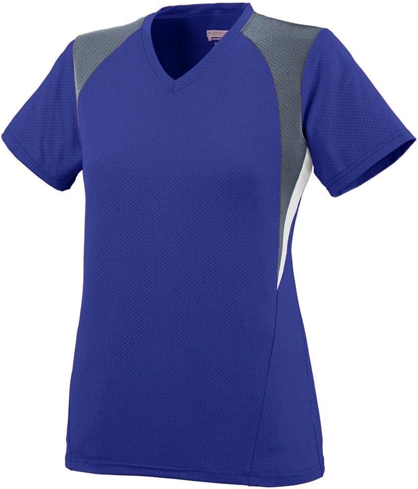 Augusta Sportswear Girls' Mystic Jersey M Purple/Graphite/White