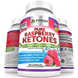 Rein 100% Raspberry Ketones MAX 1000mg Per Serving ✮ 3 MONTH SUPPLY ✮ Powerful Weight Loss Supplement ✮ Provides Energy Boost for Weight Loss ✮ 180 Capsules by Fresh Healthcare