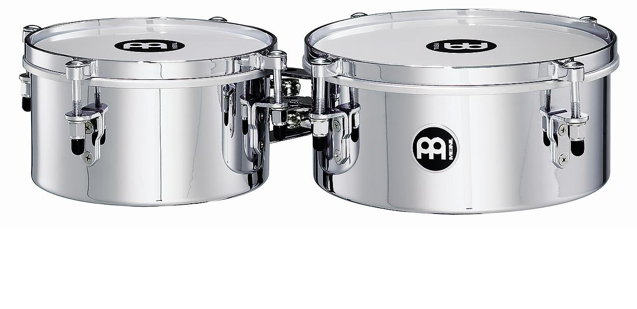 Meinl Percussion MIT810CH 8-Inch and 10-Inch Mountable Steel Mini Timbales, Chrome Finish by Meinl Percussion