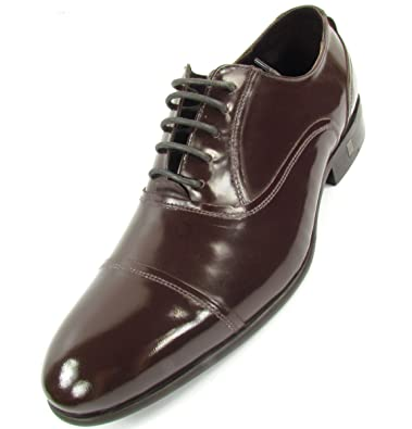Versace Collection Oxford Homme Chaussures Basses à Lacets Cuir (Marron) 21fc127dab8