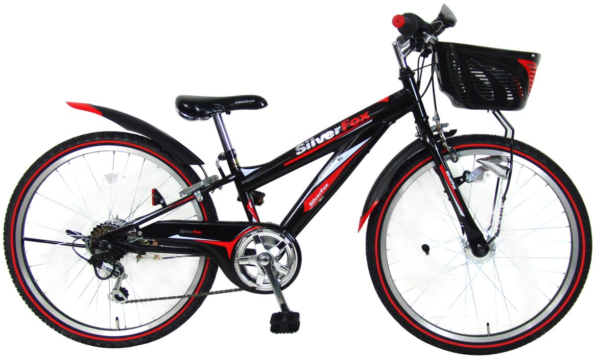 C.Dream(シードリーム) シルバーフォックス SF46-H 24インチ 子供自転車 ブラック 100%組立済み発送 B014SIQKOY
