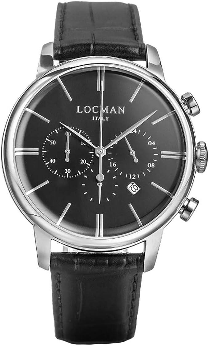 Orologio cronografo uomo locman 1960 casual cod. 0254a01a-00bknkpk
