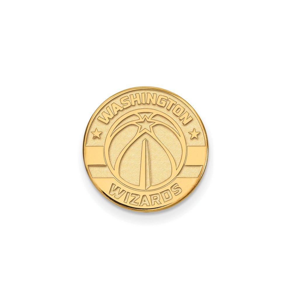 NBA Washington Wizards Lapel Pin in 14K Yellow Gold