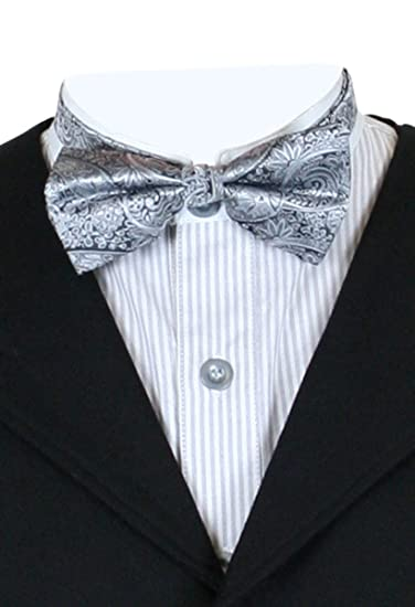 Steampunk Clothing- Men's Historical Emporium Mens Montgomery Paisley Bow Tie $9.95 AT vintagedancer.com
