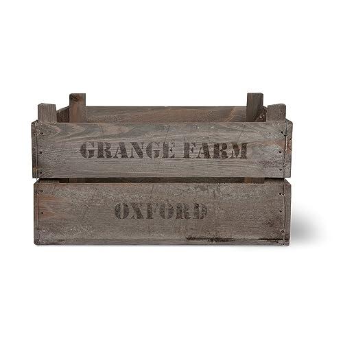 VINTAGE WOODEN FRUIT BOX / VEG BOX Storage Crate by Garden Trading