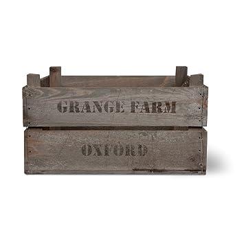 Vintage Wooden Fruit Box Veg Box Storage Crate By Garden Trading