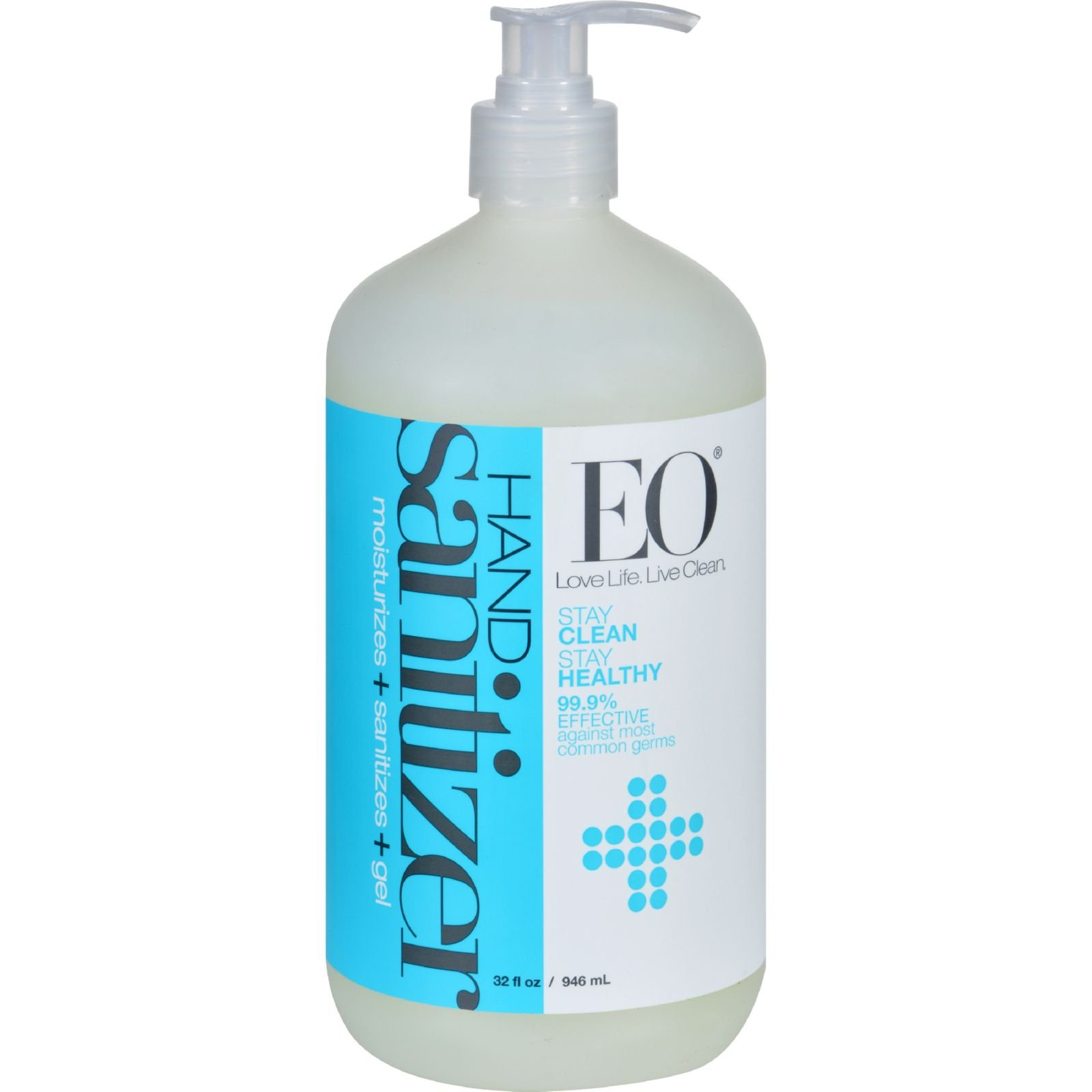 EO Products Hand Sanitizer Gel - Natural - Unscented - 32 oz by EO