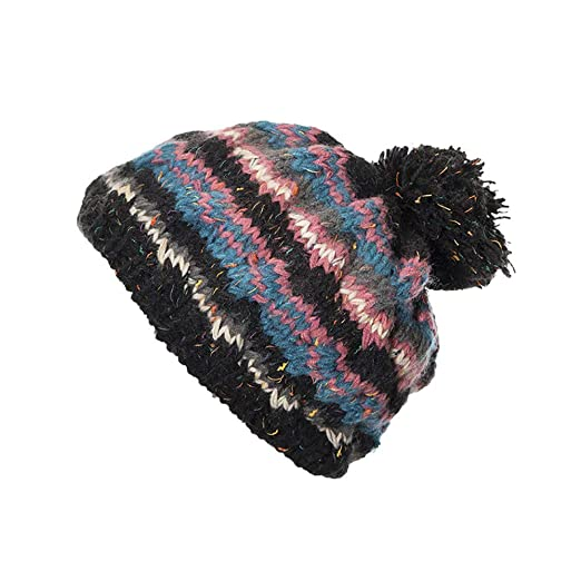 a66d34c7d4d Image Unavailable. Image not available for. Color  AKIMPE Cable Knitted  Bobble Hat Plain ...