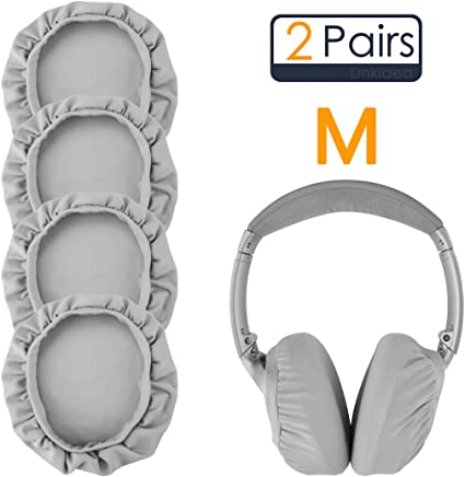 Geekria Sweater Earpads Cover for Bose QC35 SoundLink Grey QC25 QC15 Series II SoundTrue Around-Ear Headphones//Stretchable Knit Fabric Earcup Protectors//Fits 3.14-4.33 inches Headphone