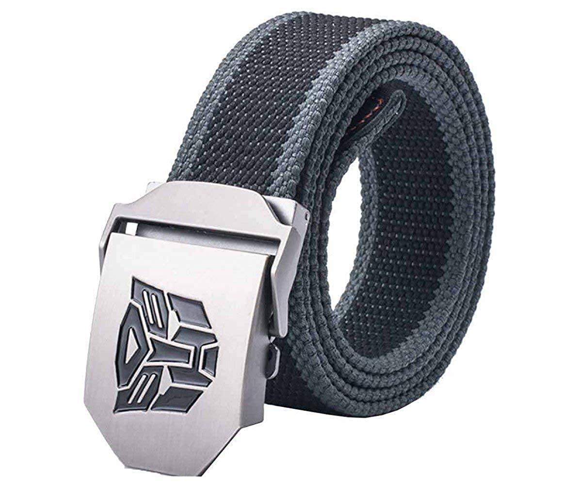 LVLUOYE Men Belt Canvas Automatic Buckle ven For Outdoor Casual Breathable Decoration