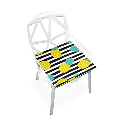 Cool Amazon Com Plao Chair Pads Pineapple On Black White Soft Caraccident5 Cool Chair Designs And Ideas Caraccident5Info
