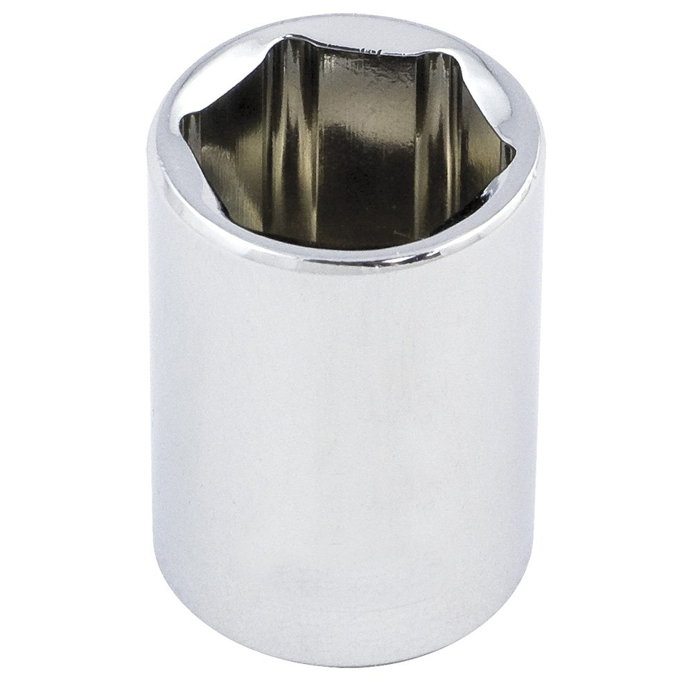 ITC 25412-1/2-Inch Drive, 3/8', Regular, 6 Point, SAE Chrome Socket 3/8 ITC Tools