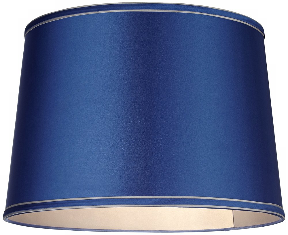 Sydnee Satin Medium Blue Drum Lamp Shade 14x16x11 (Spider) by Brentwood (Image #2)