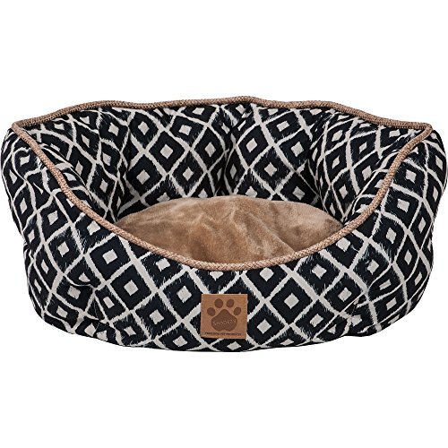 Precision Pet SnooZZy Ikat Clamshell Bed Navy
