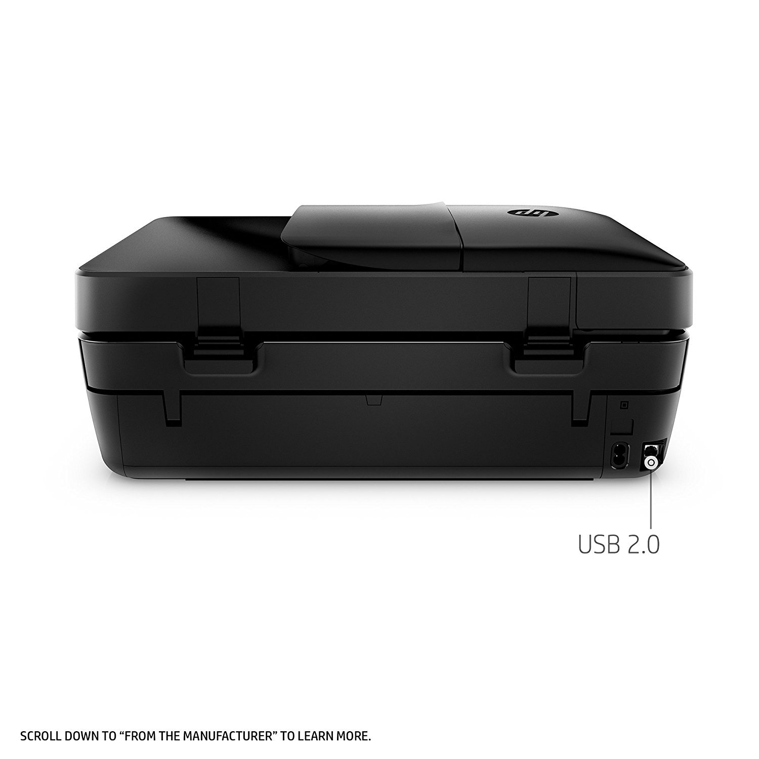 HP OfficeJet 4650 Wireless All-in-One Photo Printer, Copier and Scanner - Black (Certified Refurbished) by HP (Image #4)