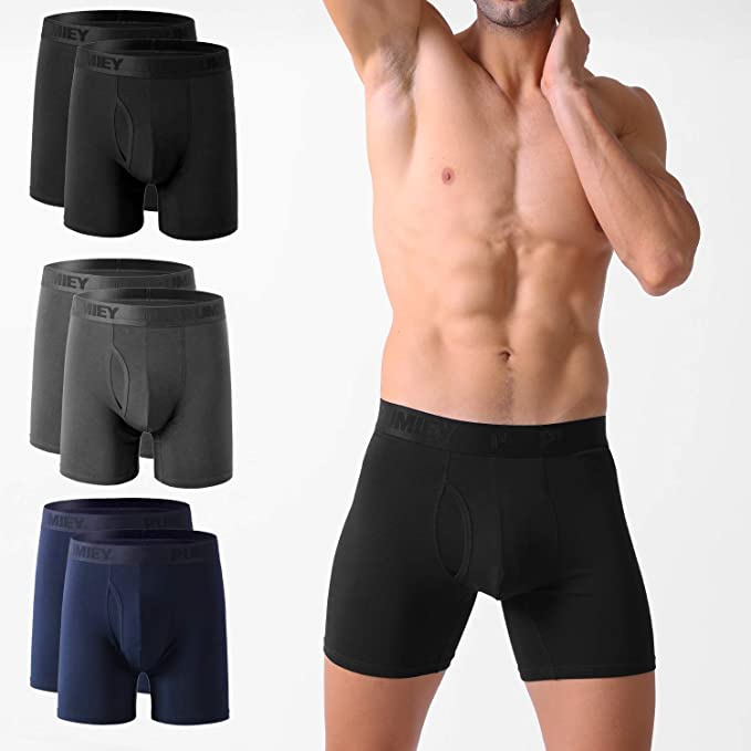 Mens Boxer Briefs Underwear Skateboarding No Ride Up Cotton Stretch Short