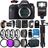 Canon EOS 6D DSLR Camera ( Body Only ) + 64GB I3-Pro Memory Card + 72'' I3-Pro Tripod + I3-Pro Auxiliaries Lenses + Deal-Expo Accessories Bundle