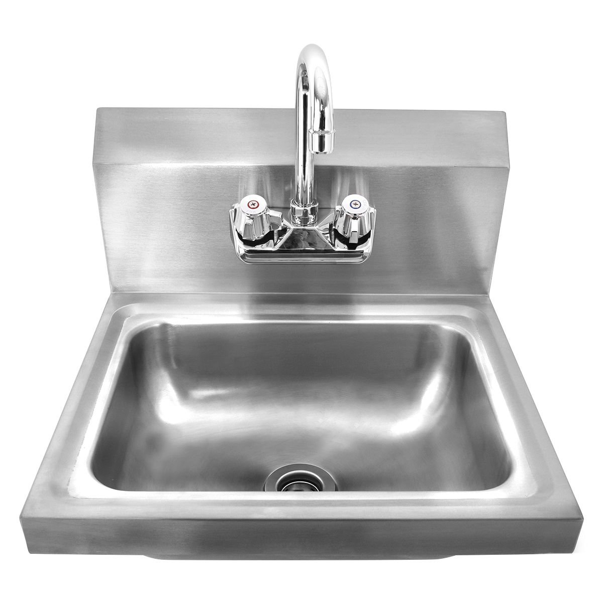 Giantex Stainless Steel Hand Wash Sink Wall Mount Commercial Kitchen Heavy Duty With Faucet by Giantex (Image #2)