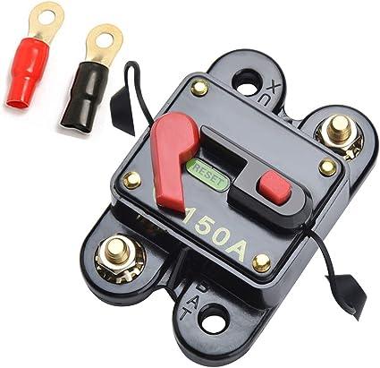 Qiorange 12v 24v 150a Dc Automatische Sicherung Schalter Leistungsschalter Reset Sicherung Auto Marine Boat Bike Stereo Audio 150a Auto