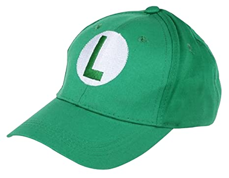 e026e3d62e75f LuckyStone Super Mario Bro - Green Baseball Cap Luigi Hat  Amazon.in   Clothing   Accessories