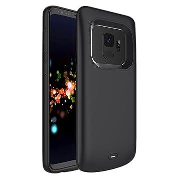 Carcasa de batería recargable Samsung Galaxy S9, 4700mAh Carcasa de batería externa ultrafina recargable Carcasa de batería recargable Cargador de ...