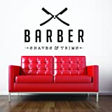 Vinyl Wall Decal Sticker Bedroom Barber shop COMPANY NAME hair scissors r1519
