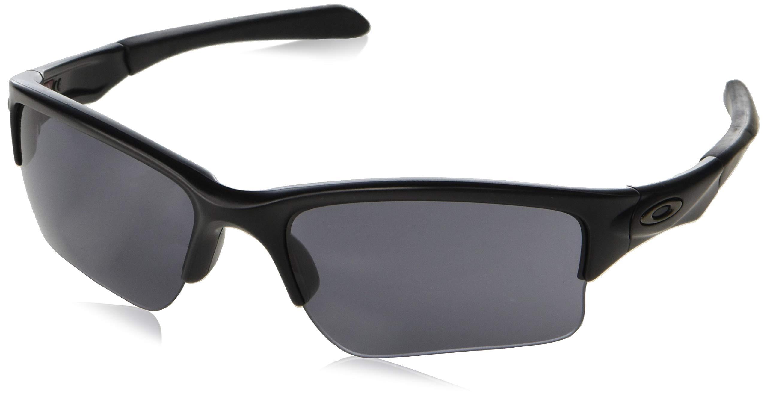 Oakley Men's OO9200 Quarter Jacket Rectangular Sunglasses, Matte Black/Grey, 61 mm by Oakley