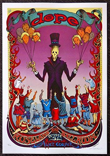 Dope - Alice Cooper - Live at the Roseland Ballroom - Concert Gig Mini Poster - Halloween 2000 for $<!--$13.99-->