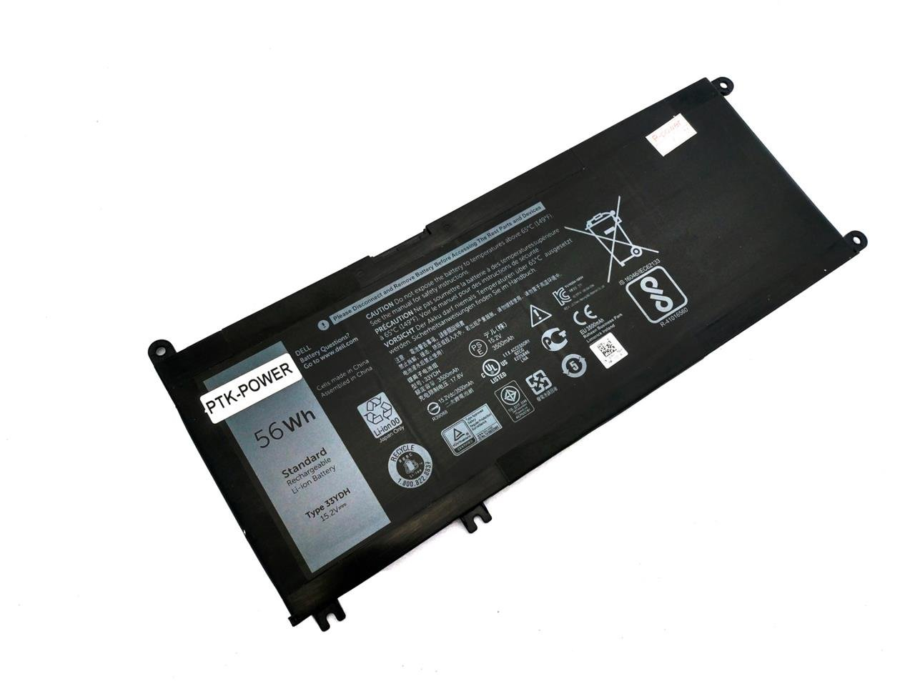 PTK-POWER 15.2V 56Wh TYPE: 33YDH NoteBook Battery For Dell Inspiron 7778 Dell Inspiron 7779 Laptop batteries