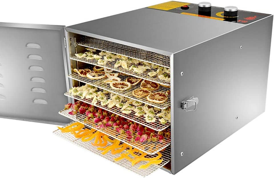 Amazon.com: Food Dryer Machine, Stainless Steel Fruit Dryers Household Food  Dehydrator with Timing And Temperature Control Small Size And Large  Capacity: Kitchen & Dining