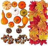 MoonLa Halloween Mini Artificial Pumpkins and