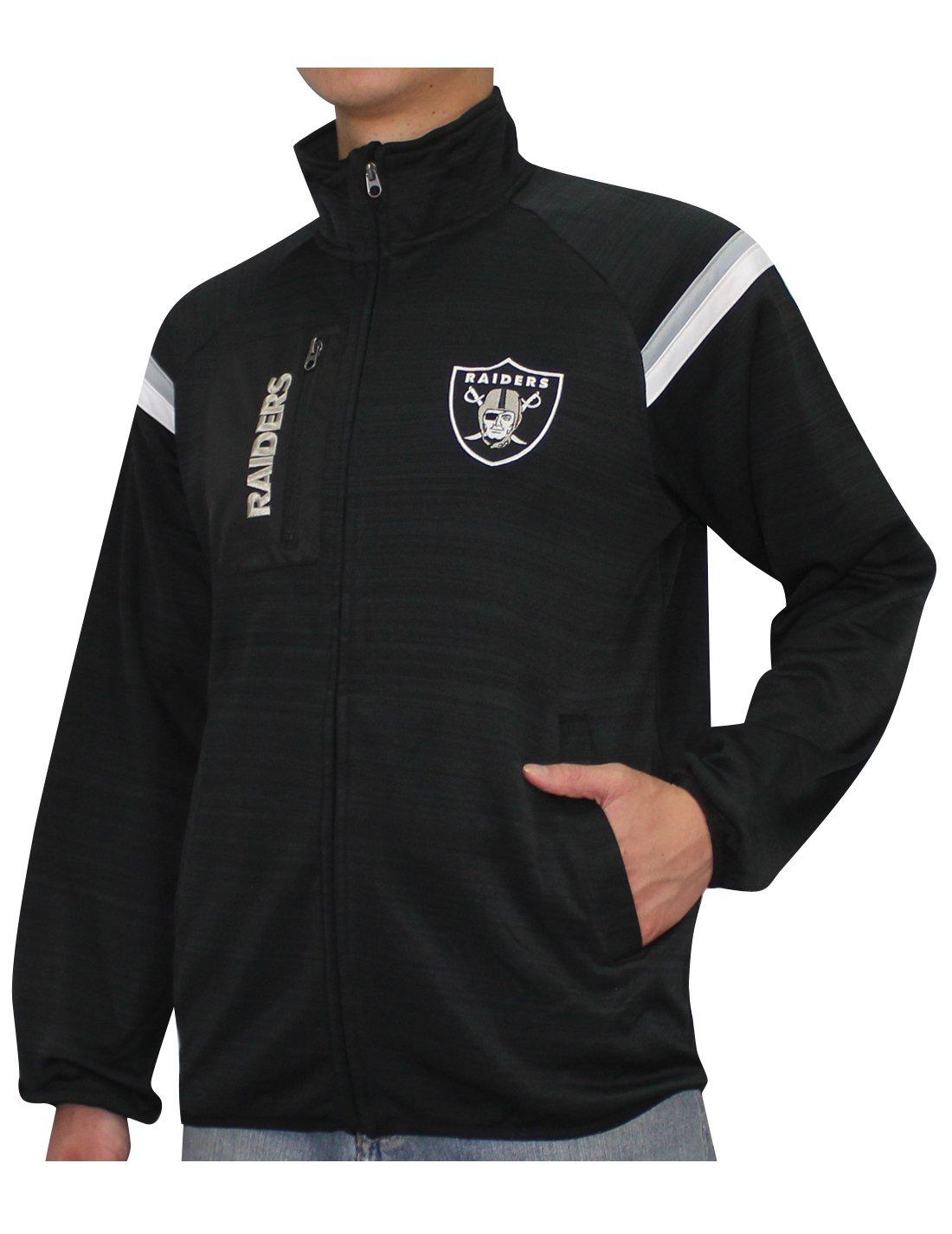Mens atlético con cremallera chaqueta pista - roble Raiders ...