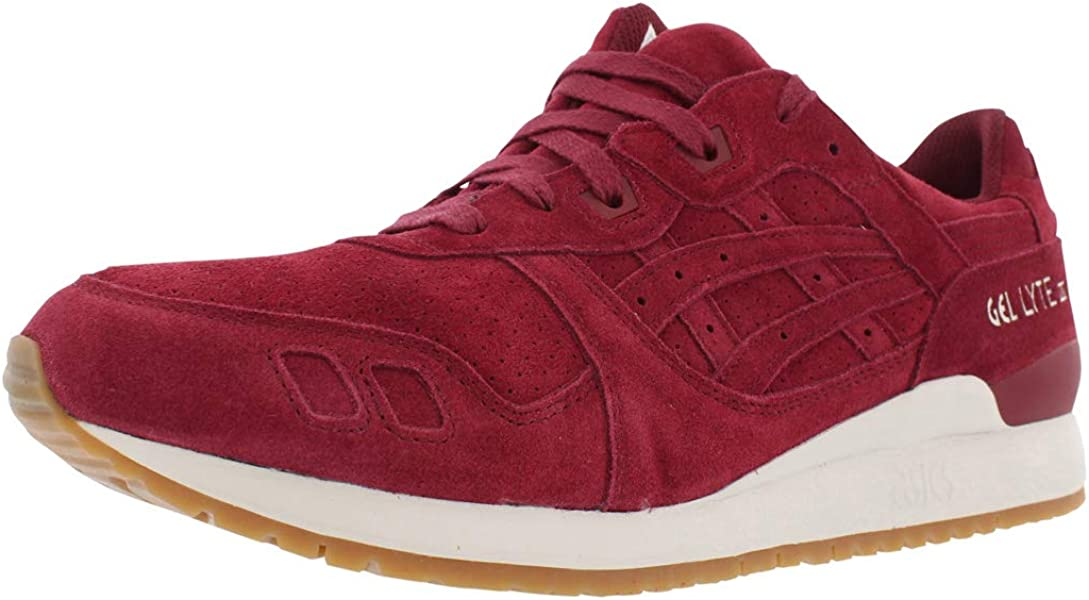 3553c6c2c6074 by Asics Men's Gel-Lyte III Burgundy/Burgundy 11.5 D US
