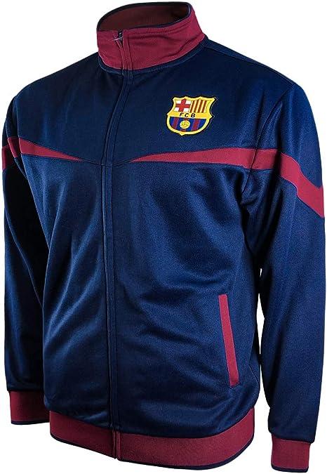 Youth Medium Navy Icon Sports Spanish Primera Liga Barcelona Full-Zip Lightweight Hoodie