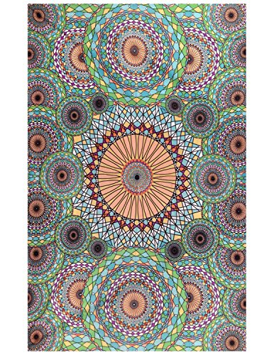 - Sunshine Joy 3D Geometric Rings Tapestry Tablecloth Beach Sheet 60x90 Inches - Ring Of Autumn