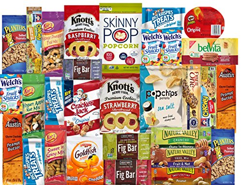 Premium Care Healthy Care Package College & Military; Send & Share Variety Snack Box, Assortment of Bars, Crackers, Baked, Popped and Nut Snacks by LA Signature