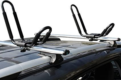 Foldable Folding Kayak Carrier Canoe Boat Surf Ski Roof Top Mounted on Car /& SUV Crossbar Ace-Trades