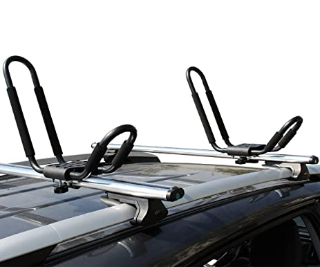 High Quality Ace Trades Kayak J Bar Rack Carrier Canoe Boat Surf Ski Roof Top Mounted