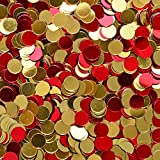 Confetti World Cup 2018 - Circle 1/4'' Red, Gold for Spain, Espana - 1/4 POUND - 13,000 PIECES - CCP6121 - Free Ship