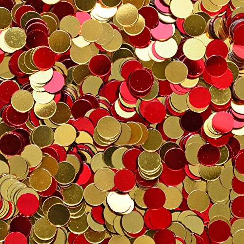 Confetti World Cup 2018 - Circle 1/4'' Red, Gold for Spain, Espana - 1/4 POUND - 13,000 PIECES - CCP6121 - Free Ship by Jimmy Jems